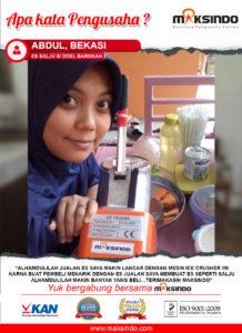 Jual Mesin Es Serut (Ice Crusher) di Malang