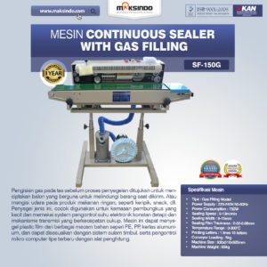 Jual Mesin Continuous Sealer With Gas (Band Sealer) di Malang