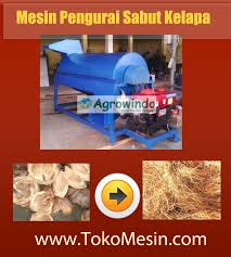 mesin pengurai sabut kelapa 1 tokomesin malang