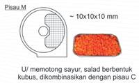 Jual Mesin Perajang Sayur Buah (fruit vegetable cutter) di Malang