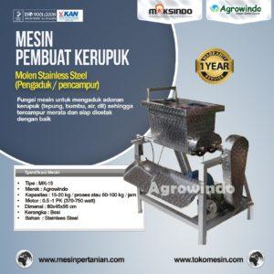 Jual Mesin Pembuat Kerupuk (Mixer dan Cetak) di Malang