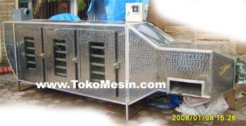 mesin oven pengering serbaguna (stainless-gas) 10 tokomesin malang