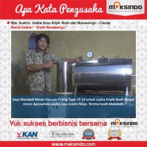 Jual Mesin Vacuum Frying Kapasitas 10 Kg di Malang