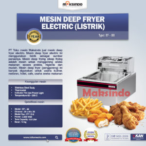 Jual Mesin Deep Fryer (Listrik) – Penggoreng Serbaguna di Malang