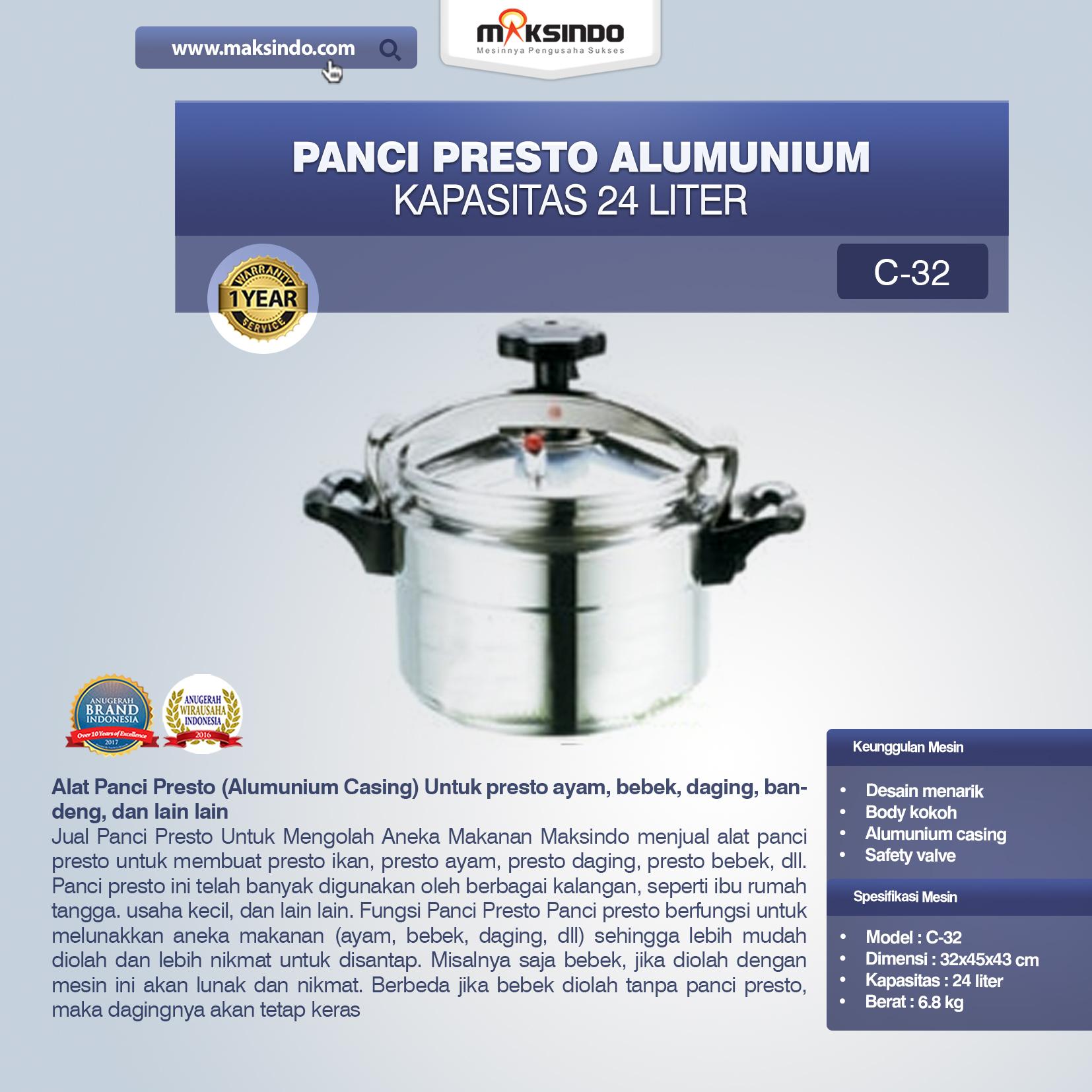 Jual Panci Presto Alumunium 7 -135 Liter di Malang