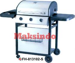 mesin barbeku gas barbeque with side burner tokomesin malang