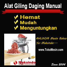 mesin giling daging manual 2 tokomesin malang