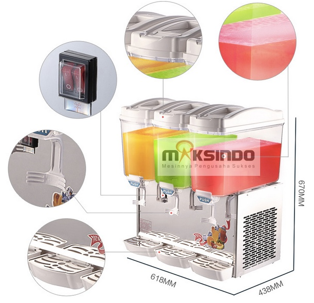 mesin juice dispenser 3 tabung 2 tokomesin malang