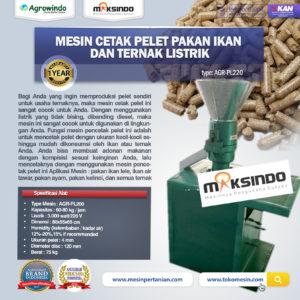 Jual Mesin Cetak Pelet Pakan Ikan dan Ternak Listrik – AGR-PL220 di Malang