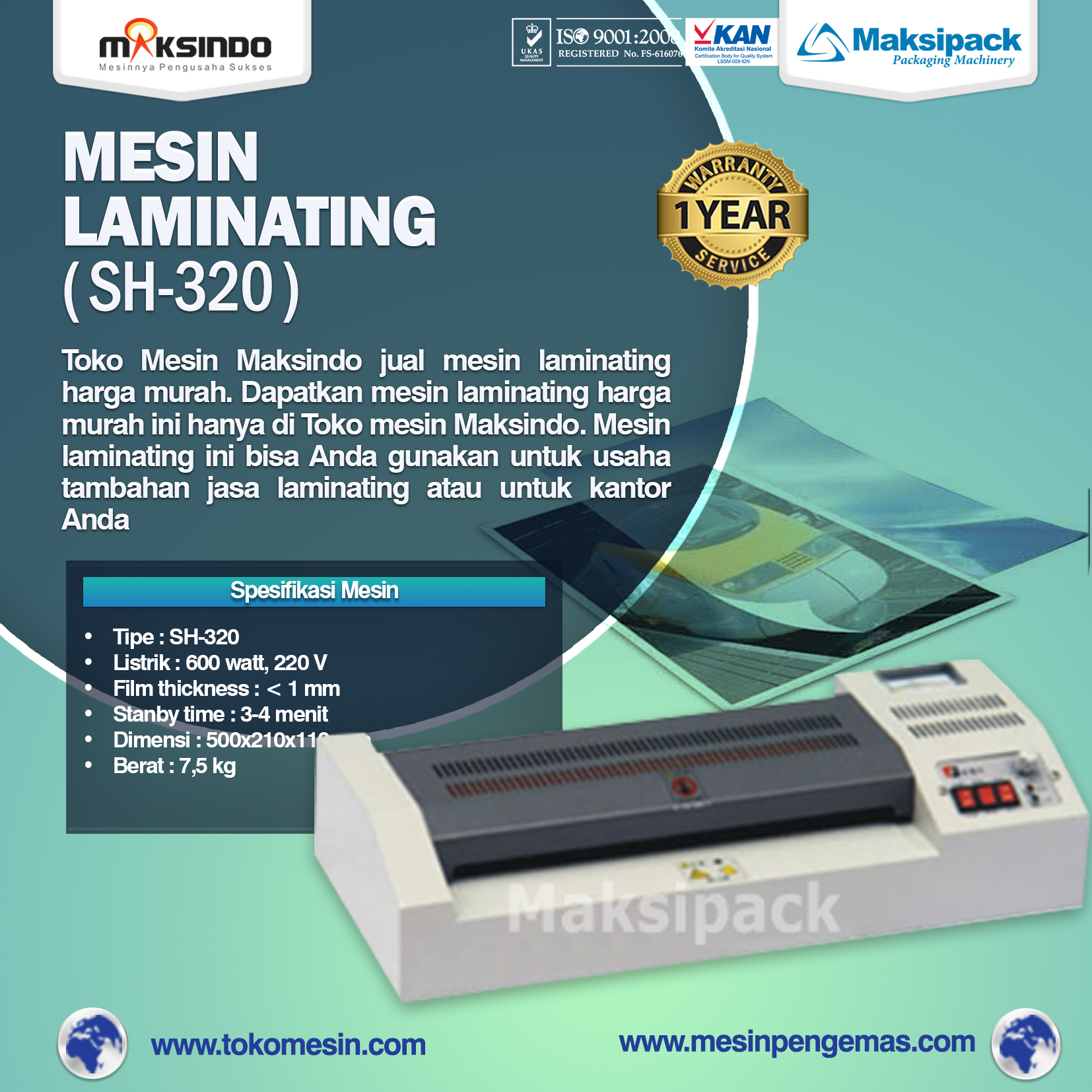 Mesin Laminating SH 320