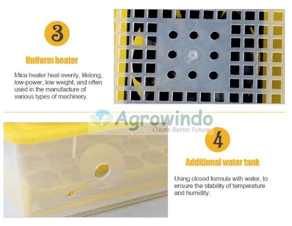Mesin Penetas Telur Otomatis 48 Butir - AGR-YZ48 10 tokomesin malang