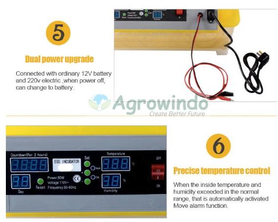 Mesin Penetas Telur Otomatis 48 Butir - AGR-YZ48 11 tokomesin malang