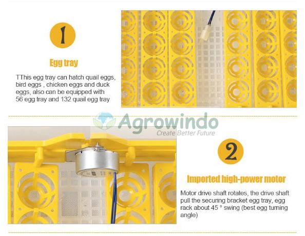 Mesin Penetas Telur Otomatis 48 Butir - AGR-YZ48 9 tokomesin malang