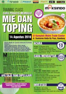 Training Usaha Mie dan Toping di Bandung 14 Agustus 2016