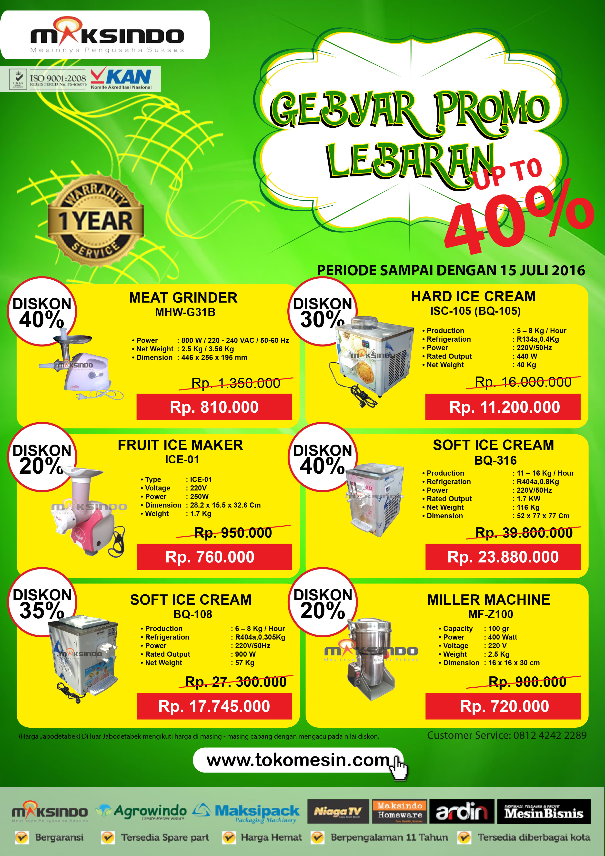 GEBYAR PROMO LEBARAN Up to 40%