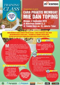 Training Usaha Mie Dan Topping di Condet, 4 September 2016