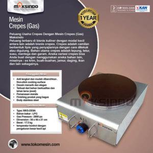 Jual Mesin Crepes Gas Double Pan (DE8Ax2) di Malang