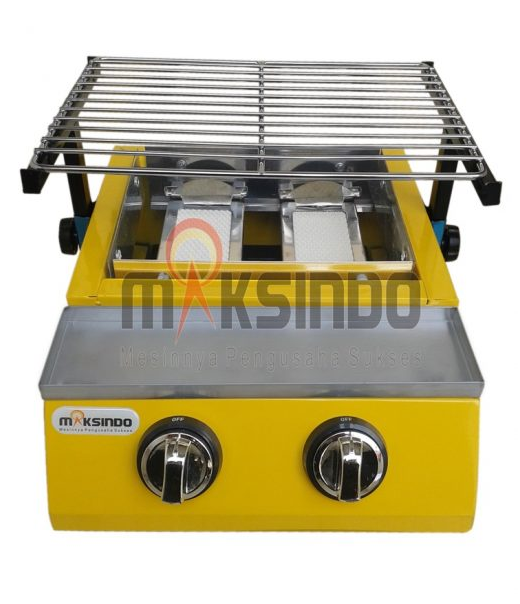 Mesin Pemanggang Sate - BBQ 2 Tungku (Gas) 1 tokomesin malang