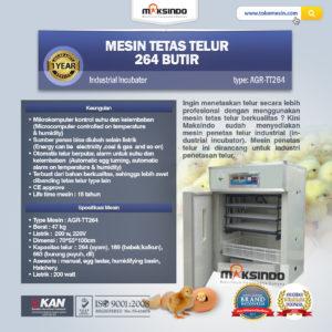 Jual Mesin Tetas Telur Industri 264 Butir (Industrial Incubator) di Malang