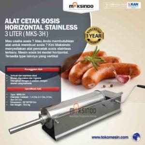 Jual Alat Cetak Sosis Horizontal Stainless 3 – 7 liter (MKS-3H) di Malang