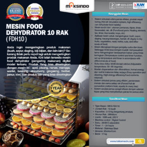 Jual Mesin Diplay Warmer (MKS-3W) di Malang
