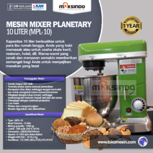 Jual Mesin Mixer Planetary 10 Liter (MKS-10B) di Malang