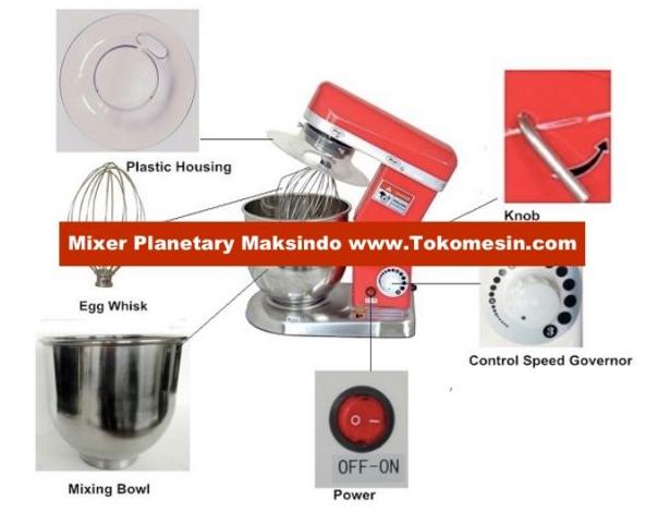 Mesin Mixer Planetary 5 Liter (MPL-5) 2 tokomesin malang
