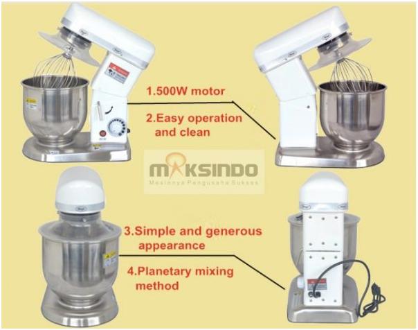 Mesin Mixer Planetary 5 Liter (MPL-5) 3 tokomesin malang