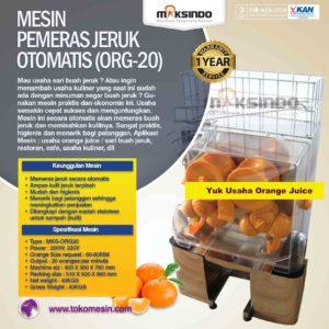 Jual Mesin Pemeras Jeruk Otomatis (ORG-20) di Malang