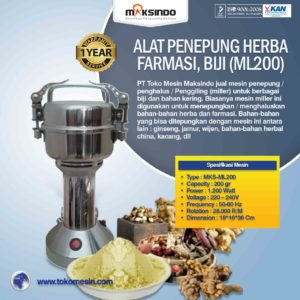 Jual Penepung Herba, Farmasi, Biji (ML2500) di Malang