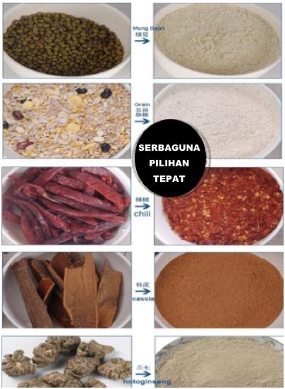 Penepung Herba, Farmasi, Biji (ML200) 4 tokomesin malang