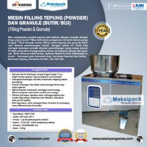 Jual Mesin Filling Tepung dan Biji (2-100gr) di Malang