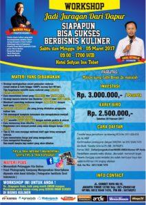 Workshop Jadi Juragan Dapur (Bisnis Kuliner) 4-5 Maret 2017
