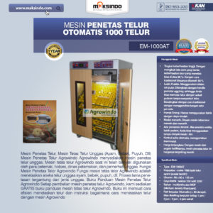 Jual Mesin Penetas Telur Otomatis Kapasiatas 1000 Telur (EM-1000AT) di Malang