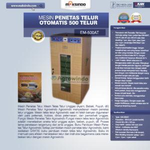 Jual Mesin Penetas Telur Otomatis Kapasitas 500 Telur (EM-500AT) di Malang