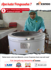 Jual Mesin Pencabut Bulu Ayam dan Unggas di Malang