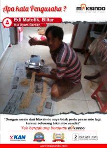 Jual Mesin Cetak Mie (MKS-135) di Malang