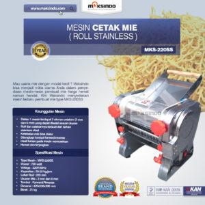 Jual Mesin Cetak Mie MKS-220 (Roll Stainless) di Malang