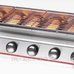 Pemanggang BBQ Stainless (gas) 6 Tungku 1 tokomesin malang