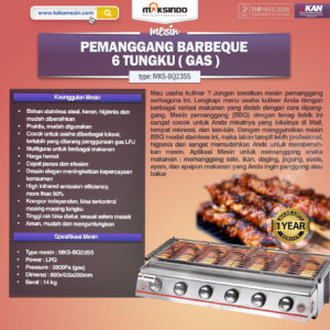 Jual Pemanggang BBQ Stainless (gas) 6 Tungku di Malang