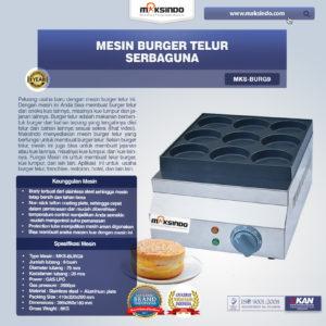 Jual Mesin Burger Telur Serbaguna (Gas- BURG9) di Malang