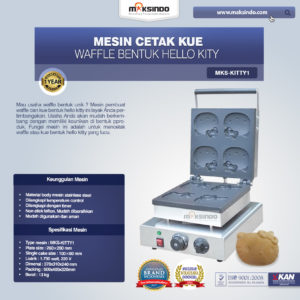 Jual Mesin Cetak Kue/Waffle Bentuk Hello Kity (Kitty1) di Malang