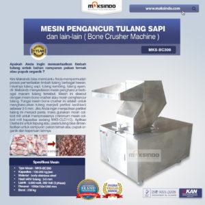 Jual Mesin Pengancur Tulang Sapi, dll (BC300) di Malang