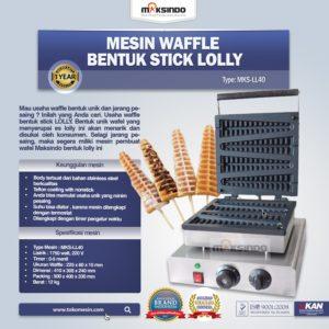 Jual Mesin Waffle Bentuk Stick Lolly (LL40) di Malang