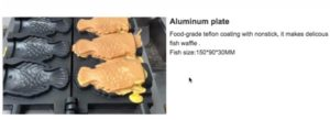 Jual Mesin Waffle Taiyaki Open Mouth (ETYK3) di Malang