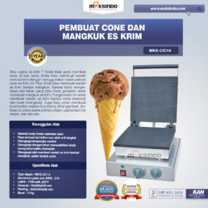 Jual Pembuat Cone dan Mangkuk Es Krim (CIC14) di Malang