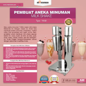 Jual Mesin Milk Shake Pembuat Aneka Minuman (YX-02) di Malang