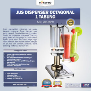 Jual Jus Dispenser Octagonal 1 Tabung  (DSP31) di Malang