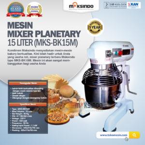 Jual Mixer Planetary 15 Liter New High Quality (MKS-BK15M) di Malang