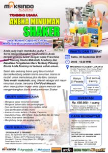 Training Usaha Aneka Minuman Shaker, 30 September 2017